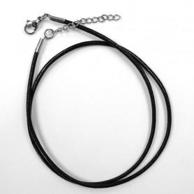 Cordon cuir noir pour collier