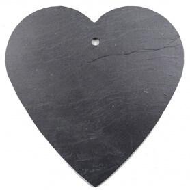Ardoise Coeur pour déco jardin (taille XL) Côté moderne