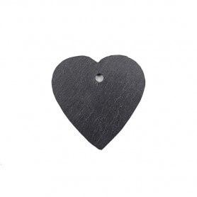 Petite ardoise naturelle en forme de cœur 7 × 7 cm pour mosaïque ou autres techniques de loisirs créatifs vue côté lisse