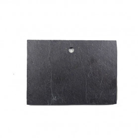 Petite étiquette rectangle en ardoise côté lisse et contemporain