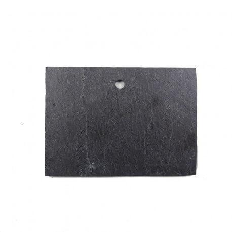 Petite ardoise naturelle rectangulaire 7,5 × 10 cm pour mosaïque ou autres techniques de loisirs créatifs vue côté lisse