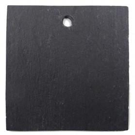 Ardoise naturelle carrée 9,5 × 9,5 cm pour mosaïque ou autres techniques de loisirs créatifs vue côté lisse