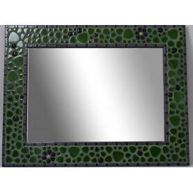 Miroir rectangle en mosaique galets japonais et émaux de Briare