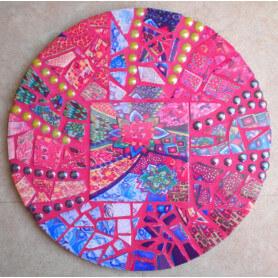 Exemple de mosaïque DESSOUS DE PLAT ROND décoré par Marianne