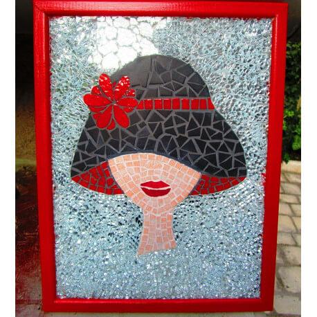 Tableau sur fond de crackle Diamant