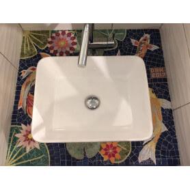 Dessus de meuble de salle de bains en mosaique