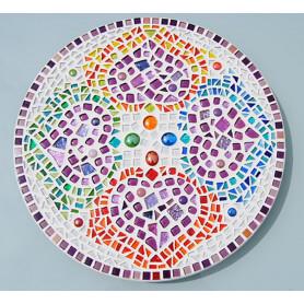 Dessous de plat en mosaique multimatériaux