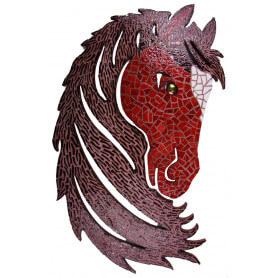 Tête de cheval en émaux de Briare