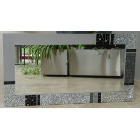 Miroir rectangle en mosaique