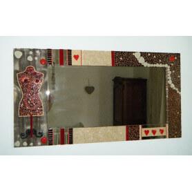 Exemple de mosaïque MIROIR RECTANGULAIRE décoré par Annie