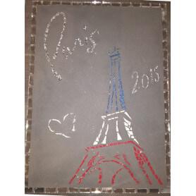 Tableau en mosaique motif Tour Eiffel