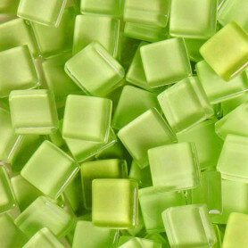 Pâtes de verre translucides Carambole vert