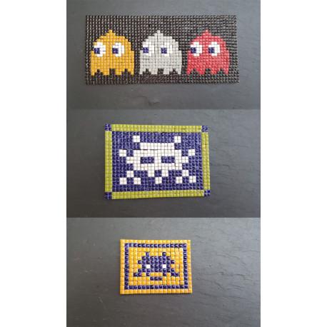 Exemple De Tableaux En Mosaïque Pixel Art Décorés En Micro