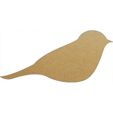 Support en Bois Forme d'Oiseau Stylisé pour Mosaïque 26 cm
