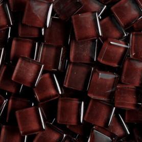 Pâtes de verre translucides Coco marron 10x10 mm
