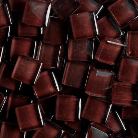 Pâtes de verre translucides Coco marron 1 × 1 cm