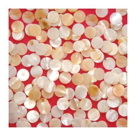 Nacre naturelle forme ROND Taille 1 pour mosaïque vendue par 100 g