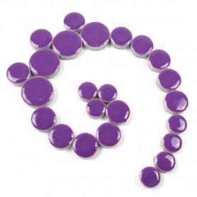 Céramiques Pastilles HORTENSIA violet émaillées et brillantes pour mosaïque
