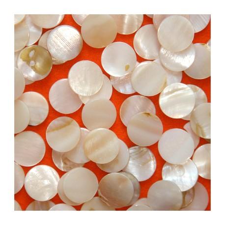 Nacre naturelle forme ROND Taille 2 pour mosaïque vendue par 50 g