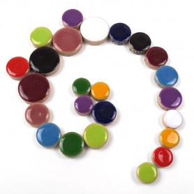 Céramiques Pastilles BOUQUET multicolore émaillées et brillantes pour mosaïque