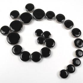 Céramiques Pastilles BACCARAT noir intense émaillées et brillantes pour mosaïque