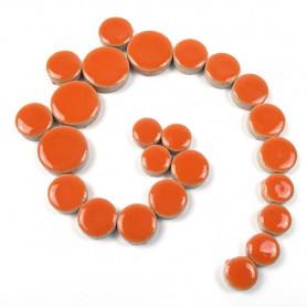 Céramiques pastilles CAPUCINE orange