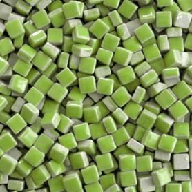 Micro-porcelaine 5 × 5 mm couleur ANIS vert pour mosaïque