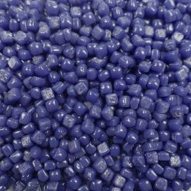 Micro-cubes de verre 5 × 5 mm couleur BRIMBELLE bleu pour mosaïque