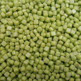 Micro-cubes 5 × 5 mm couleur PETIT POIS vert pour mosaïque