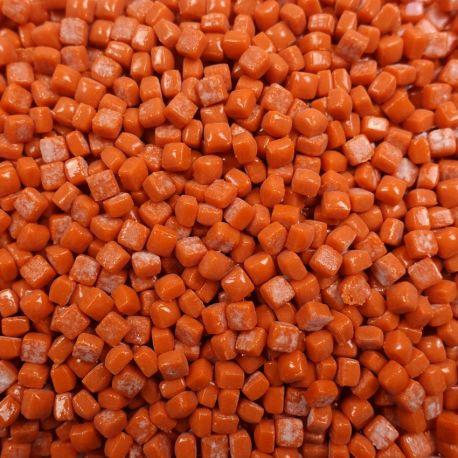 Micro-cubes 5 × 5 mm couleur POTIRON orange pour mosaïque