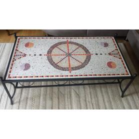 Table basse décorée en Emaux de Briare