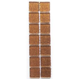 Pâtes de verre pailletées ORANGE TOPAZE 2 × 2 cm