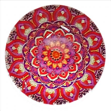 Joli rond motif Mandala de couleur rouge 2,5 x 2,5 cm