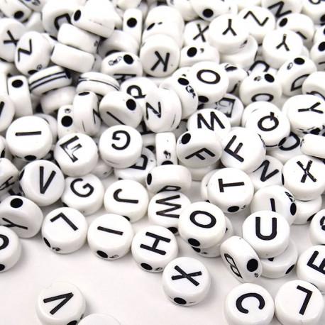 Lettres rondes blanches 7 × 3 mm pour mosaïque