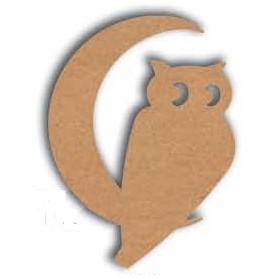 Support en Bois forme de Hibou pour Mosaïque 26 cm