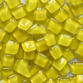 Cailloux de verre Pamplemousse jaune