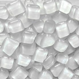 Cailloux de verre Litchi blanc