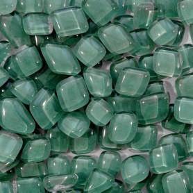 Cailloux de verre Amande vert