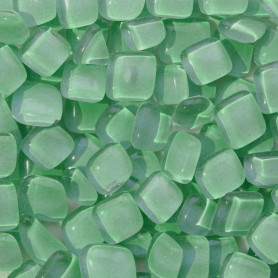 Cailloux de verre Carambole vert