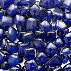Cailloux de verre Myrtille bleu foncé