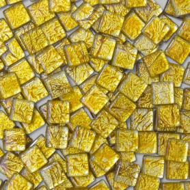 Pâtes de verre Précieux OR 1 × 1 cm vendues par 100 g, 300 g ou 600 g