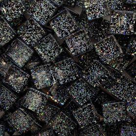 Pâtes de verre pailletées DIAMANT NOIR 1 × 1 cm