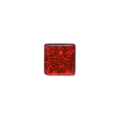 Pâte de verre Pailletée RUBIS 10 x 10 mm