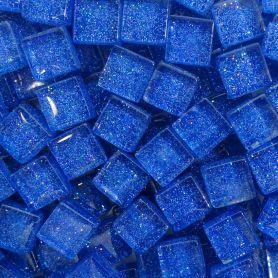 Pâtes de verre pailletées SAPHIR bleu 1 × 1 cm vendues par 100 g, 300 g et 600 g