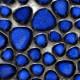 Galets japonais en grès COBALT bleu émaillés à l'effet craquelé mélange aléatoire de tailles vendus par 100 g ou 300 g