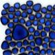 Galets japonais en grès COBALT bleu émaillés mélange aléatoire de tailles vendus à la mini-plaque de 13 × 13 cm