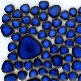 Galets japonais COBALT bleu mini-plaque