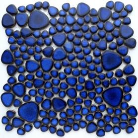 Galets japonais COBALT bleu plaque