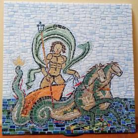 Exemple de mosaïque TABLEAU POSEÏDON décoré par Jérémy
