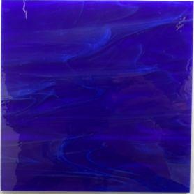 Tige de verre BLEU INDIGO bleu foncé 18 x 2 cm